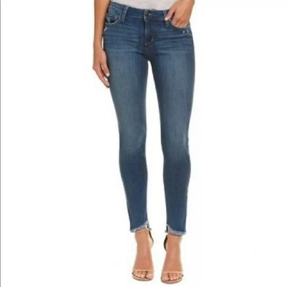Joe's Larissa Skinny Ankle Jeans Raw Hem